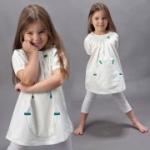 green astronaut - Tunika/kurzes Sommerkleid weiß, kbA