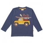 Frugi - Langarmshirt Pick-up-Truck blau, kbA