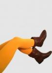 Leggings uni safran  S