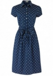 Danni Square Print Dress Navy
