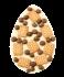 Weiße Schokolade mit Keksen