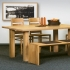 """Tisch """"Sala 02"""" (100/240cm, Kernbuche)"""