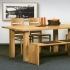 """Tisch """"Sala 02"""" (100/120cm, Schwarznuss)"""