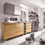 """Küchenunterschrank """"Culinara"""" (Variante 01, mit rundem Griff, Eiche, 120er-Modul)"""