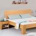"""Einzelbett und Doppelbett """"Cubus"""" (42cm, 100/200cm, Buche, kirschbaum-gebeizt, Baumkante)"""