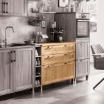 """Küchenunterschrank """"Mediterano"""" (Variante 05, mit rundem Griff, Eiche, 100er-Modul)"""