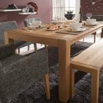 """Tisch """"Mensa 01"""" (Auszug 50cm, 105/180cm, Eiche)"""