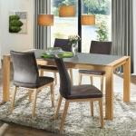 """Tisch """"Alivio"""" (ohne Auszug, 090/180cm, Wildeiche, Holz)"""