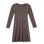 Jerseykleid aus reiner Bio Baumwolle, taupe