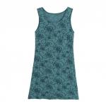 Intarsien-Tunika aus Bio Baumwolle, jade