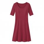 Jerseykleid aus reiner Bio Baumwolle, beere