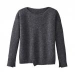 Pullover aus Bio Schurwolle, anthrazit