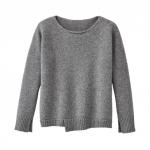 Pullover aus Bio Schurwolle, kiesel
