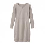 Jerseykleid aus reiner Bio Baumwolle, stein