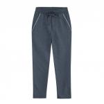 Jersey-Joggpants aus Bio Baumwolle, jeansblau