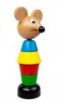 Kinderspielzeug Steck-Mäuschen aus Holz