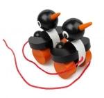 Ziehtiere Pinguine Holzspielzeug aus Tschechien
