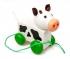 Ziehtier Kuh handbemaltes Holzspielzeug