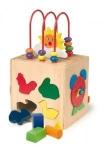 Lernspielzeug aktiv Würfel Sonne aus Massivholz ab 3 Jahre