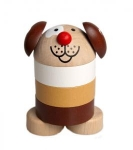 süßes Steckspielzeug Hündchen aus Holz zum Stecken und Sortieren
