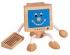 Holzfigur Monitor - lustiges Holzspielzeug für Kleinkinder