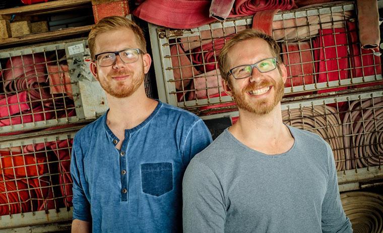 Robert und Martin Klüsener, die Chefs von Feuerwear