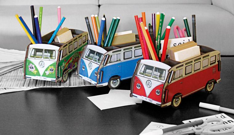 VW-Bulli als Stiftebox, ausgefallene Büroartikel