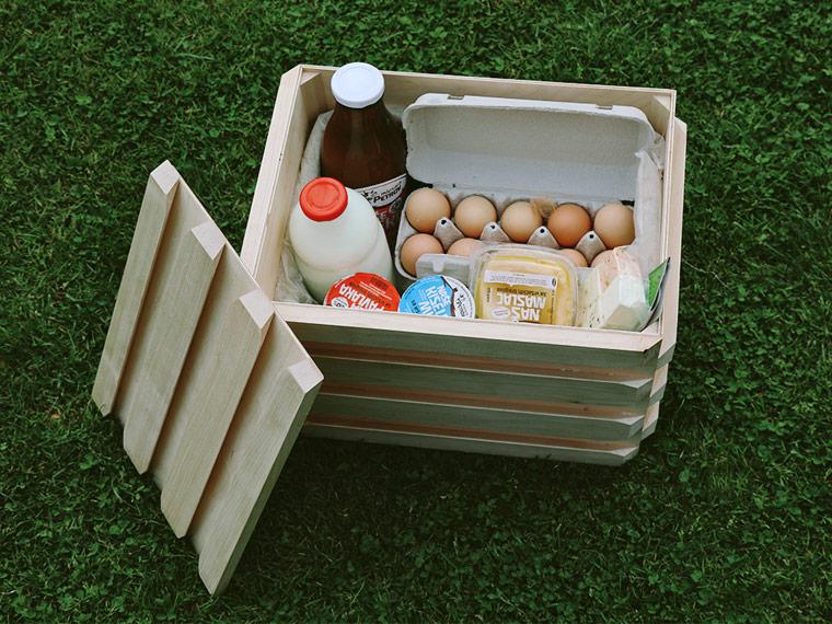 Diese Kühlbox hält Lebensmittel nachhaltig frisch