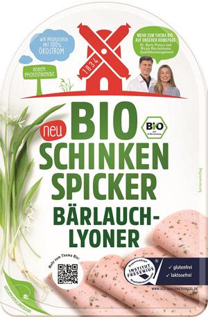 Bio Schinken Spicker Bärlauch-Lyoner