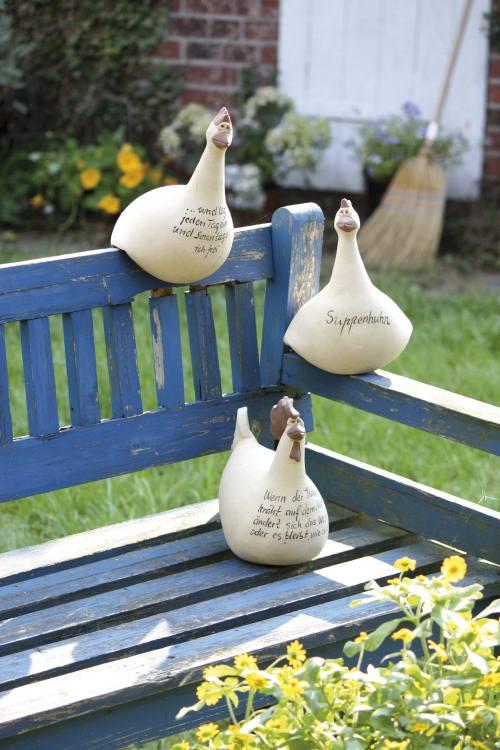 Garten Accessoires Von Keimzeit Handgefertigte Keramik Hühner