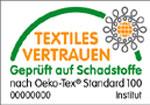 Das Logo Ökotex - Textiles Vertrauen