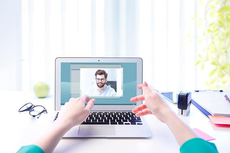 Videochat mit Arbeitskollege