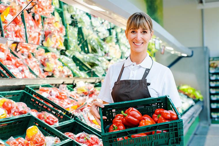 Supermarkt Angestellte