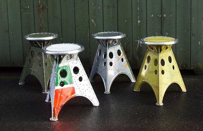 Upcycling Moebel Recycling Ideen Aviation Stool