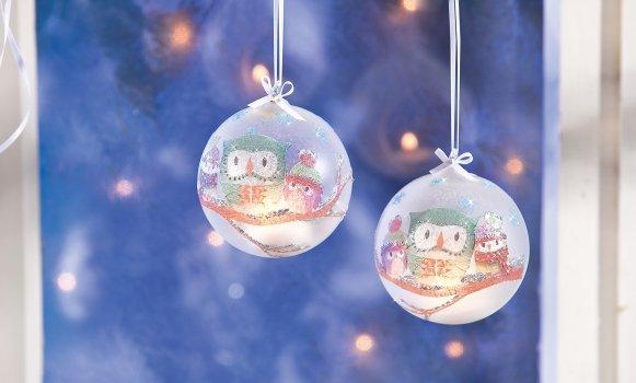 Weihnachtsschmuck selber machen: Schicke Christbaumkugeln