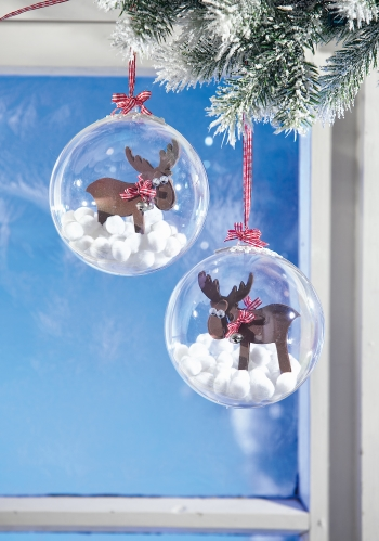Weihnachtsschmuck selber machen: Schicke Christbaumkugeln mit Elch