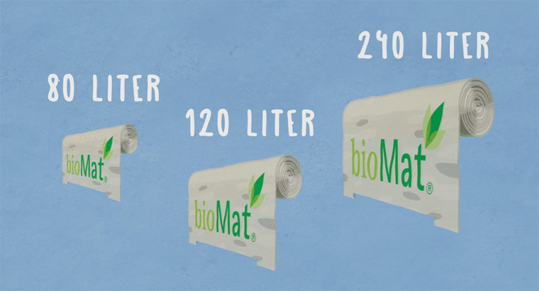 Biologisch abbaubare Abfallsäcke für saubere Mülltonnen