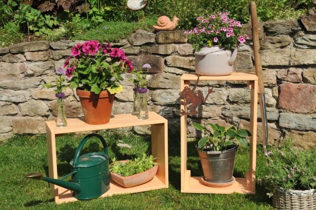 DIY: Bauanleitung für eine Blumenbank