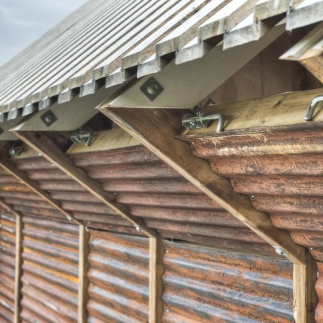 Nachhaltige Architektur: Haus aus Recycling Materialien