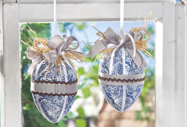 Zu Ostern basten: Süße Ostereier, Dekoration mit Serviettentechnik