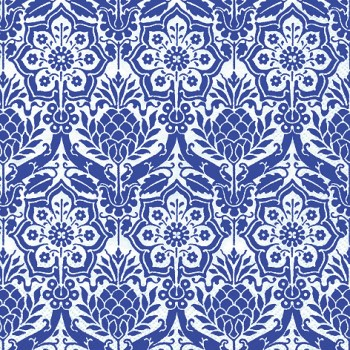 Bastelidee: Das Delfter Motiv in blau bringt Frische in die Osterdeko