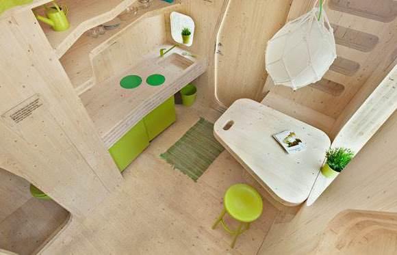 Einraumwohnung Ein-Personen-Haus für Studenten