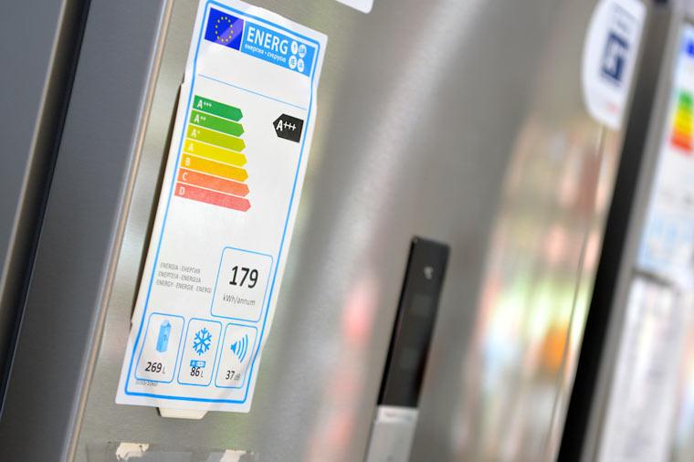 Ein Kühlschrank der Effizienzklasse A+++ verbraucht während der gesamten Nutzungsdauer nur ein Drittel des Stroms, den ein Gerät der Klasse B verbraucht