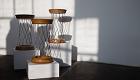 Ergonomie trifft Design in einem Holzhocker: Syn-Kraft Stool von Christian Kayser