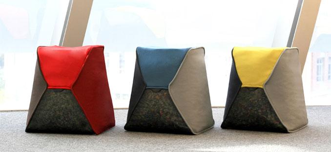Recycling design flasche  Plastik recycling Möbel Sitzsack-Hockern aus Pet Flaschen