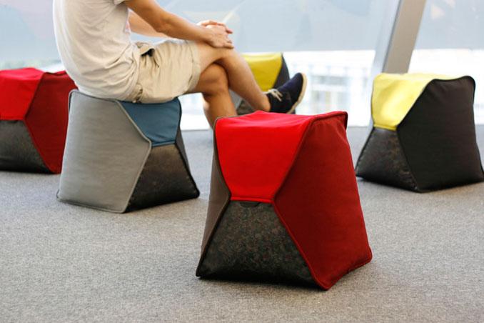 Viele Hocker machen sich gut in einer Lounge oder Warteräumen © KaCaMa Design Lab