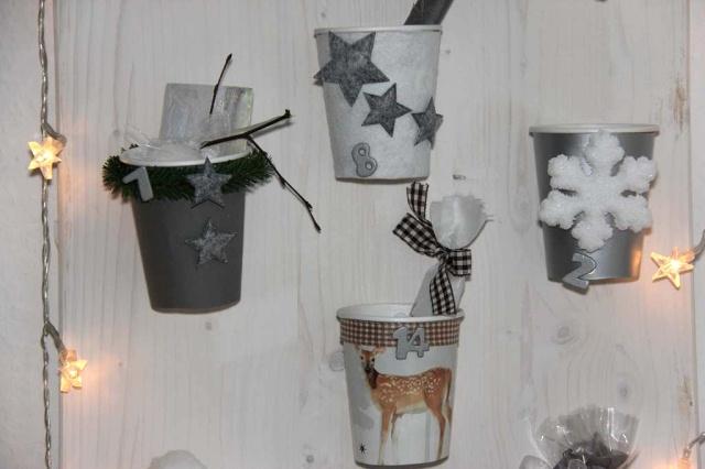 Weihnachtskalender Zum Selber Machen.Adventskalender Basteln Wie Coffee To Go Becher Sinnvoll Verwertet