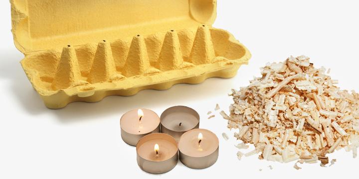 Kaminanzünder selber machen: Wie Sie Wachsreste für Kerzen recyceln