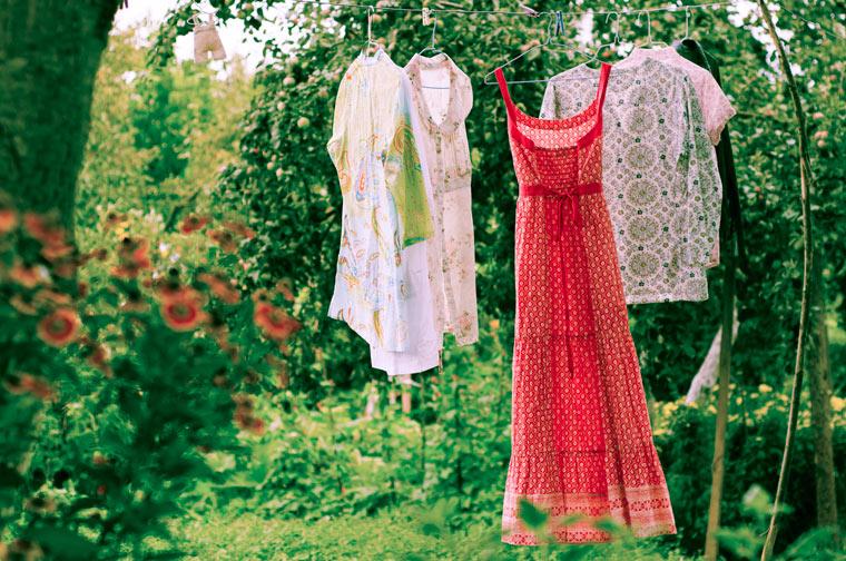 Kleidung zum Lüften rauszuhängen