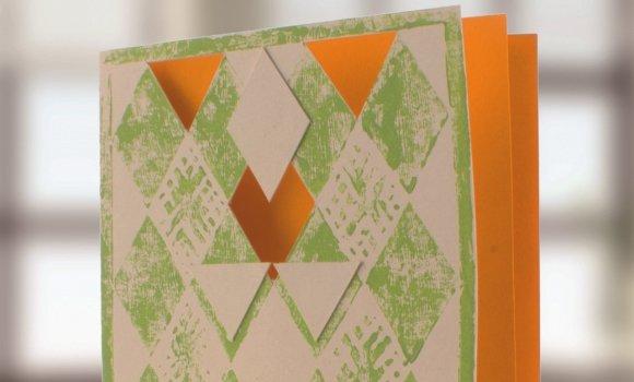 Mit Linoleum Muttertagskarten selber basteln